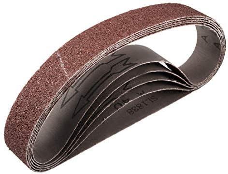 1 inch x 21 inch aluminum oxide sand belts 40 grains for 5 piece belt sander