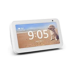 """5.5"""" Touchscreen 1MP Camera with Shutter Dual-band Wi-fi Support 1.65"""" Built-in Speaker Alexa App is compatible with Fire OS, Android, and iOS devices Customizable Photo Gallery and Clock Faces"""