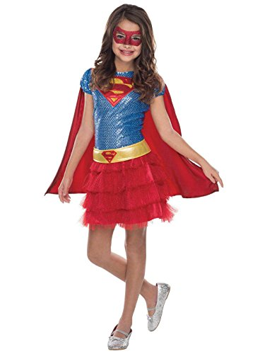 [Rubie's Costume DC Superheroes Supergirl Sequin Child Costume, Small] (Super Sparkle Costume)