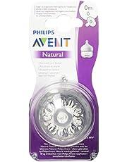 Philips Avent Natural-Speen - 0m+ - Ultrazacht - Antikrampjesventiel - Eenvoudig te combineren met borstvoeding - 2 stuks - SCF040/27