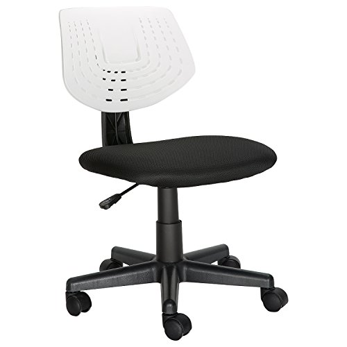 HollyHOME Small Back Office Swivel Task Chair, Armless Home Children Study Chair, (Small Back Office Chair)