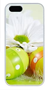 Easter holiday eggs flowers luxury iphone 5S cover PC White for Apple iPhone 5/5S