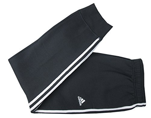 adidas Men's Essential Cotton Fleece Jogger Sweatpants (Dark Grey/White, Small)