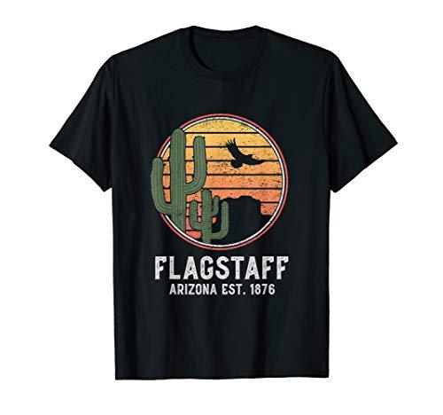 Flagstaff Arizona Retro Cactus Sun ()