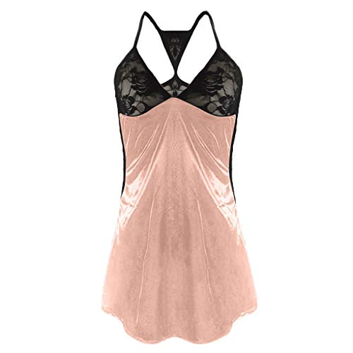 TOTOD Lingerie Women's Sexy Front Closure Babydoll Lace Chemise V Neck Mesh Pajamas Sleepwear]()