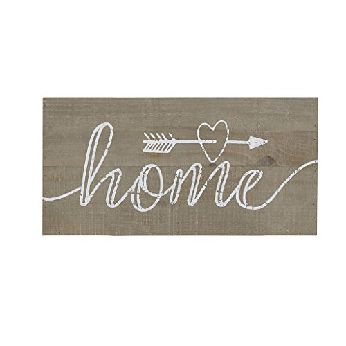 Madison Park Rustic Home Wall Art - Modern Typography Print Décor Country Farmhouse Wood Plank Inspirational Phrase Hanging Plaque, Neutral
