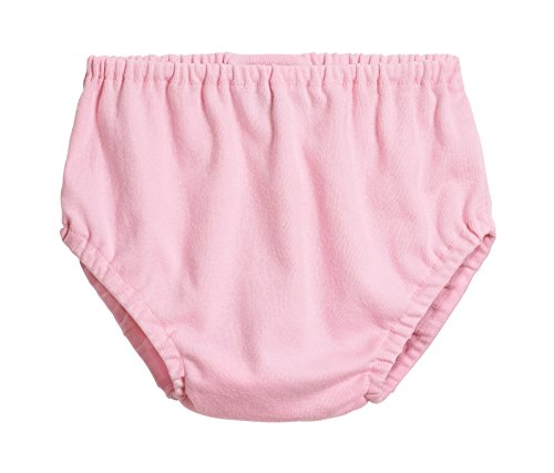 (City Threads Baby Girls' and Baby Boys' Unisex Organic Diaper Covers Bloomers Soft Cotton, Bright Light Pink, 6-9m)
