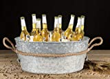 Galvanized Tub Beverage Ice Drink Tub - Party