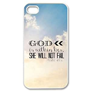 Bible Verse DIY Hard Case for iPhone 5/5s LMc-18593 at LaiMc