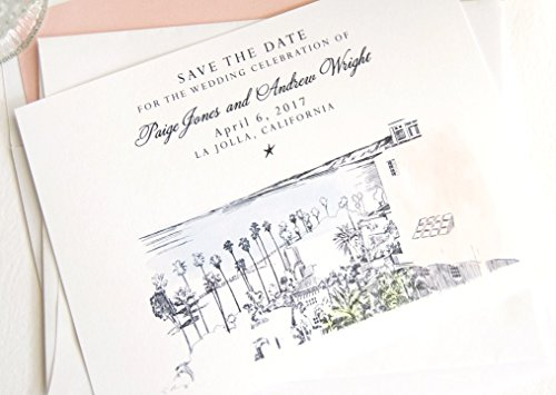 La Jolla Skyline Destination Wedding Save the Dates (Set of 25) -