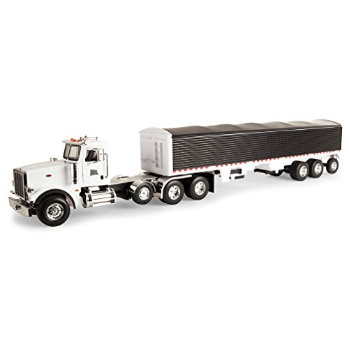 (Ertl Big Farm Peterbilt Model 367 Vehicle With Grain Trailer)