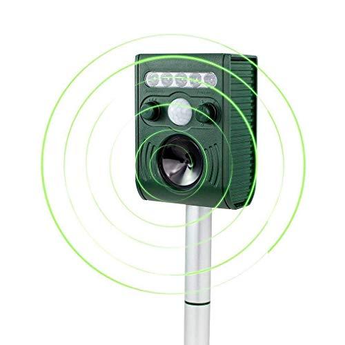 Aspectek - Effective Solar Battery Powered Ultrasonic Oudoor Pest and Animal Repeller, Pest and...