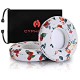 Beats Solo 2&3 Earpad Replacement,Cypher.V Ear Cushion Pads Compatible with Solo 2.0/3.0 Wireless On Ear Headphones by Dr. DRE 1 Pair- (White Floral)