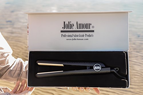 Professional Ceramic Flat Iron - Hair Straightener - With Smooth Glide Technology - For Any Grade Hair - In A Designer Gift Box by Jolie Amour