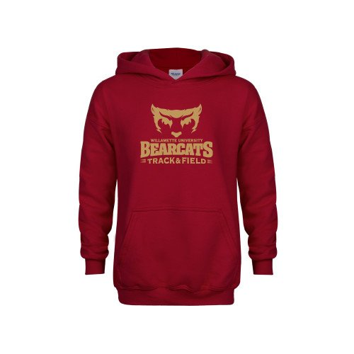 CollegeFanGear Willamette Youth Cardinal Fleece Hoodie Track and Field