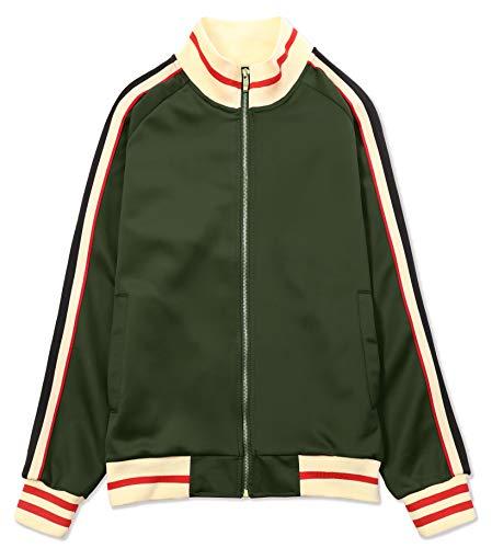 JD Apparel Men's Hipster Track Suits S Olive with Red Stripe Detailed JK5014