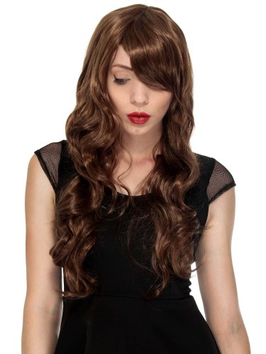 Simplicity Women Long Curly Full Hair Costume Wigs, Light Brown (Magnum Pi Halloween Costume)