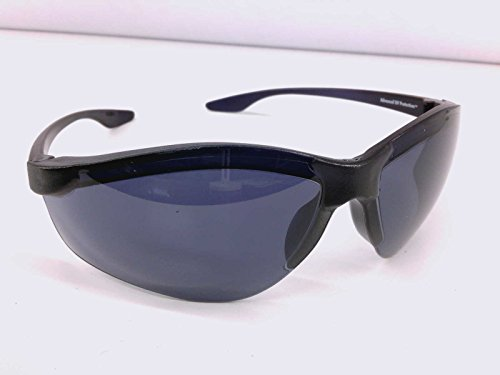 Awesome Vintage Sport Wrap Around Black Mens Sunglasses Guys Old School Shades 80s 90s Solar Comfort 100 UVA/UVB Protection Side Polycarbonate - Sunglasses Solar Comfort