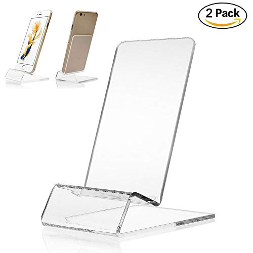Transparent Acrylic Rack (KeCool Universal Mobile Cell Phone Stand Clear Acrylic Display Mount Holder - Durable Transparent Rack Stand Holder for iPhone X 8 7 6s Plus 5s Samsung Huawei Max 5.5