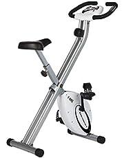 Ultrasport F-cykel, cykelcykel, motionscykel, vikbar träningscykel med träningsdator och handpulssensorer, vikbar