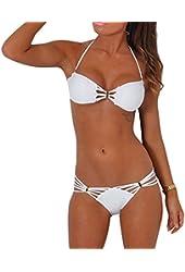 Yonas Women's Halter Swimwear Two Pieces Sexy Bikini Swimsuit