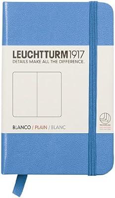 Leuchtturm1917 Mini - Cuaderno (A7, liso), color azul