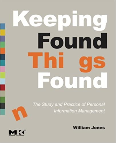 Amazon Com Keeping Found Things Found The Study And Practice Of Personal Information Management Interactive Technologies 9780123708663 Jones William Books