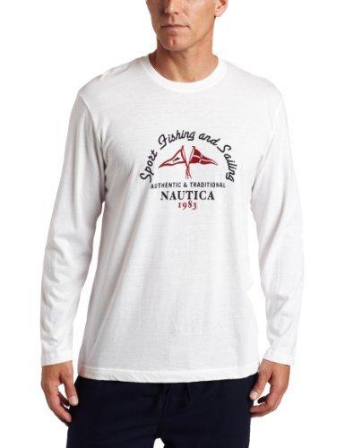 Nautica pijamas L para hombre/S cuello redondo, de color blanco