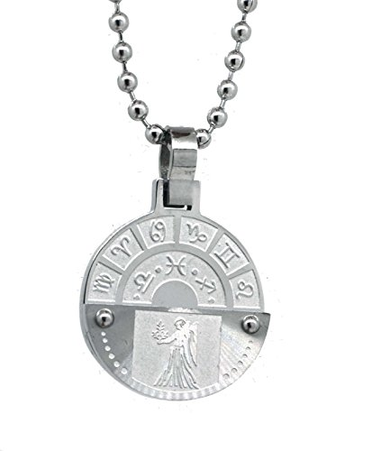 Chinese Zodiac Virgo - Zodiac Sign Mens Stainless Steel Necklace (Virgo)