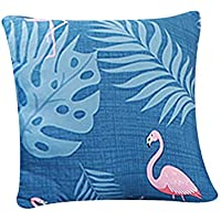 "FORCHEER Throw Pillow Covers 18""X18"" Decorative Couch Cushion Cover Removable (1PC, Flamingo)"