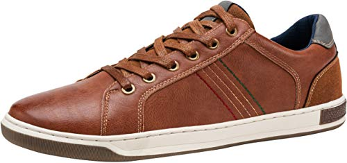 JOUSEN Men's Casual Shoes Retro Fashion Sneakers for Men (9,Brown) (Best Sneaker Shoes For Men)