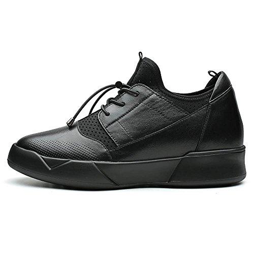 Chamaripa Mens Ascensore Scarpe Eleganti Scarpe Sportive Sneakers Aumentare La Vostra Altezza 2,76 Pollici H72c11y232d Nero