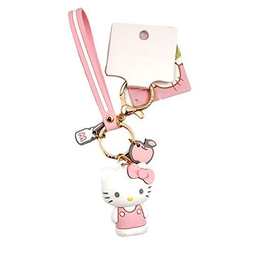 YOURNELO Original Hello Kitty Melody Cartoon Ornaments Keychain Purse Pendant (Hello Kitty)