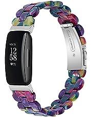 TopTen Horlogeband, compatibel met Fitbit Inspire/Inspire HR/Inspire 2 riem, hars, verstelbare polsarmband, vervangende accessoires polsbandje