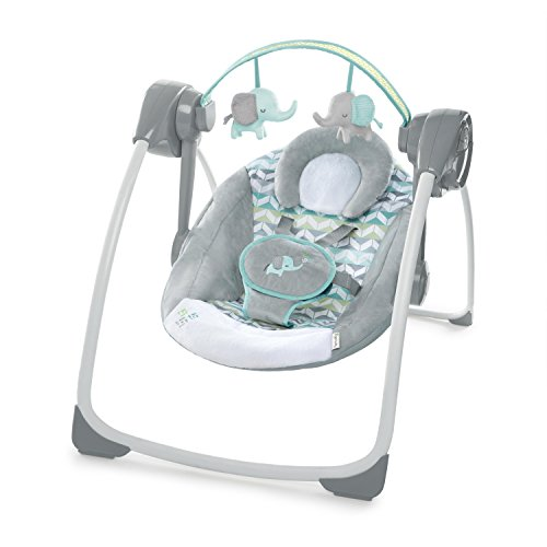 Ingenuity Comfort 2 Go Portable Swing, Jungle Journey (Best Swing Bouncer Combo)