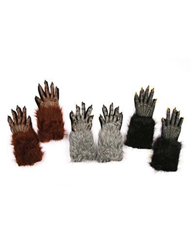 Fun World Unisex Werewolf Hands Adult Gloves, brown, Standard