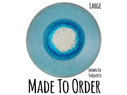 Large Centerpiece Geode Plate Made to Order, Fused Glass Platter, Handmade Ceramic Platter, Handmade Ceramic Centerpiece, Ceramic Plate
