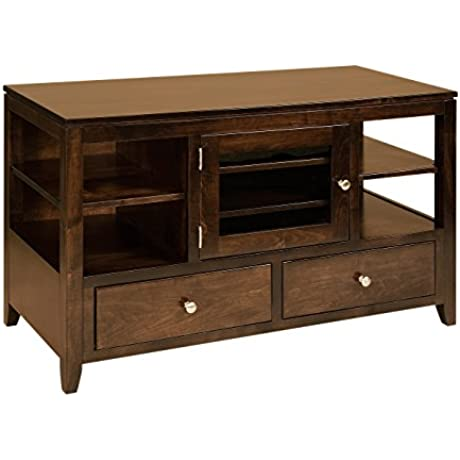 Amish Heirlooms Camden Solid Cherry TV Cabinet 59 Width X 20 Depth X 29 25 Height Mahogany Finish
