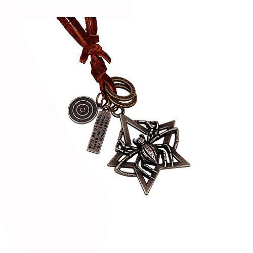 Fariishta Jewelry Retro Spider Leather Pendant (Pia Down Pendant)