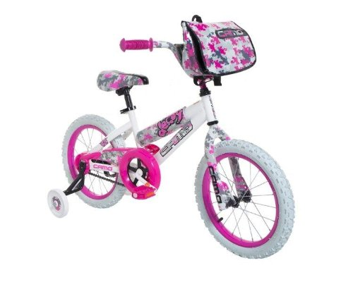 Dynacraft 8054-65TJ Decoy Girls Camo Bike, 16-Inch, White/Pink/Black by Dynacraft (Image #1)