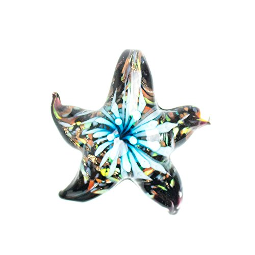 Paracord Planet Glass Starfish Pendants Available in Various and Unique Colors (Turquoise