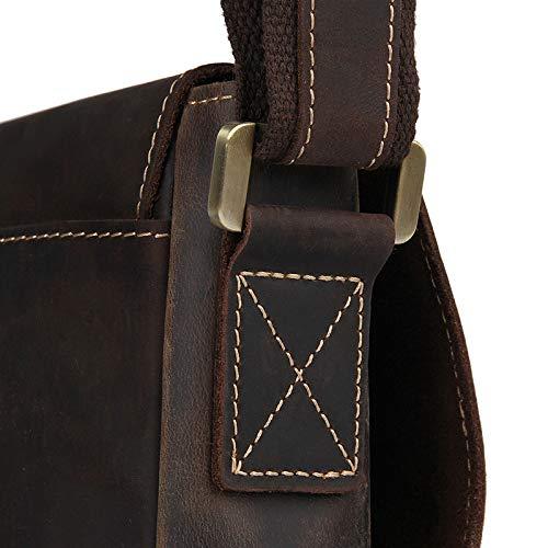 Color : Brown, Size : L MUMUWU Mens Shoulder Bag Vintage Leather Shoulder Crossbody Bag Leather Fall Durable Shoulder Bags