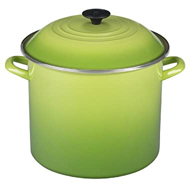 Le Creuset Enamel-on-Steel 12-Quart Covered Stockpot, Palm