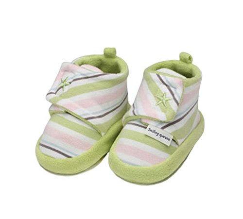 Schöne Cotton Säuglingskleinkind Sohle 2pcs Kinderschuhe Weich Schuhe Grün Neugeborene EqcnEgA5r