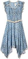 Anna Sui Womens Cornflower Multi Dotted Paisley Dress
