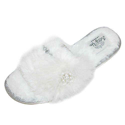Band Slippers You Pretty Women's White Odette London One qwOxaCSRUx