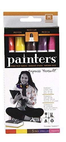 Elmer's Painters Opaque Paint Markers, Medium Point, Sierra Sunset Colors, 5 Count