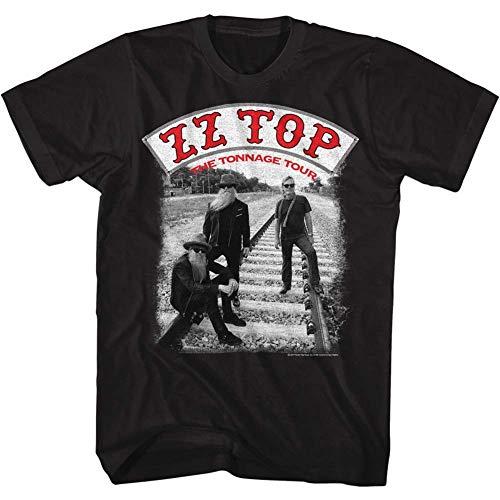 ZZ Top Rock Band Music Group Tonntour Black Adult T-Shirt Tee