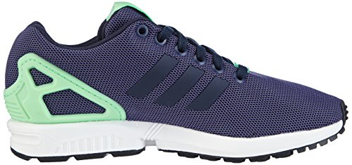 adidas Zx Flux - Zapatillas de deporte para hombre Multicolor - Blue - Blau (Collegiate Navy/Collegiate Navy/Light Flash Green)