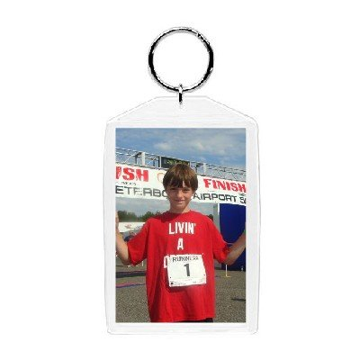 Plastic Photo Snap-in Key Chain - 2x3